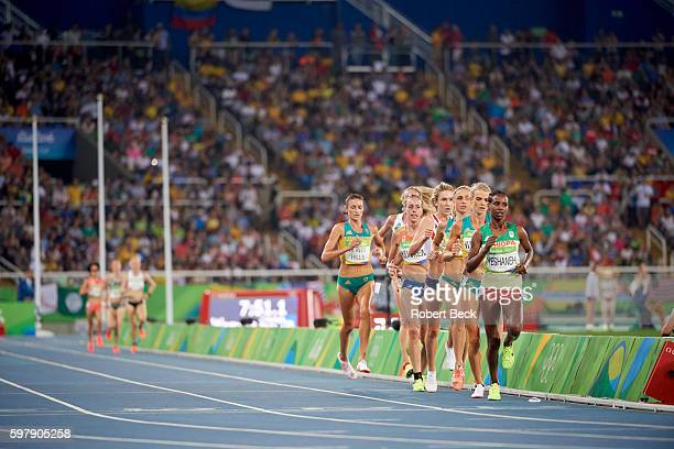 Summer Olympics: Ethiopia Ababel Yeshaneh in action during Women's 5000M Final at Rio Olympic Stadium. Rio de Janeiro, Brazil 8/19/2016 CREDIT:...