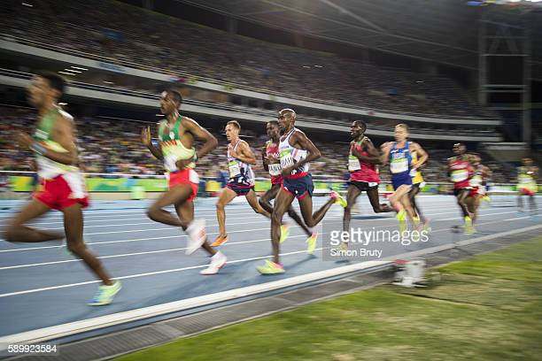 2016 Summer Olympics Great Britain Mohamed Farah in action during Men's 10000M Final at the Olympic Stadium Farah won Gold Rio de Janeiro Brazil...