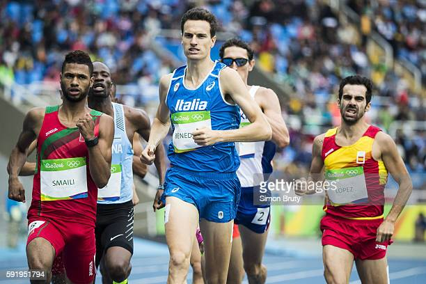 2016 Summer Olympics Italy Giordano Benedetti in action during Men's 800m Round 1 at Rio Olympic Stadium Rio de Janeiro Brazil 8/12/2016 CREDIT Simon...