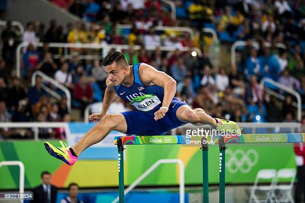 2016 Summer Olympics USA Devon Allen in action during the Men's 110 Hurdles Round 1 at the Olympic Stadium Rio de Janeiro Brazil 8/15/2016 CREDIT...