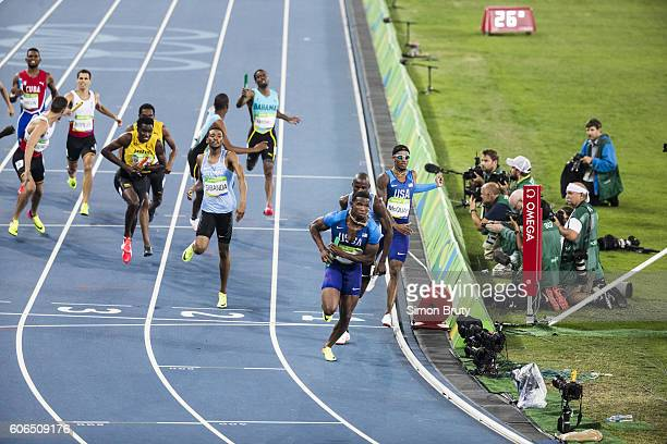 2016 Summer Olympics USA Gil Roberts in action duirng Men's 4X400M Relay Final at Maracana Stadium Rio de Janeiro Brazil 8/20/2016 CREDIT Simon Bruty