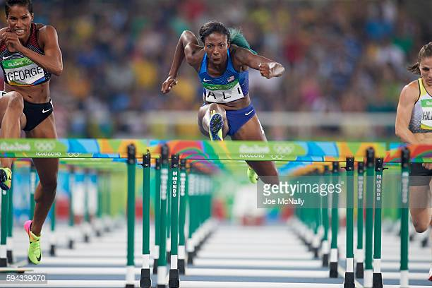 2016 Summer Olympics USA Nia Ali in action during Women's 100M Hurdles Semifinal Heats at Rio Olympic Stadium Rio de Janeiro Brazil 8/17/2016 CREDIT...