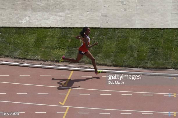 4th Islamic Solidarity Games Shadow of Baharain Shitaye Eshete in action during Women's 10000M at Baku Olympic Stadium Baku Azerbaijan 5/20/2017...
