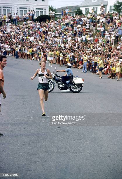 6th Falmouth Road Race Bill Rodgers in action during race on Cape Cod Falmouth MA 8/22/1978CREDIT Eric Schweikardt