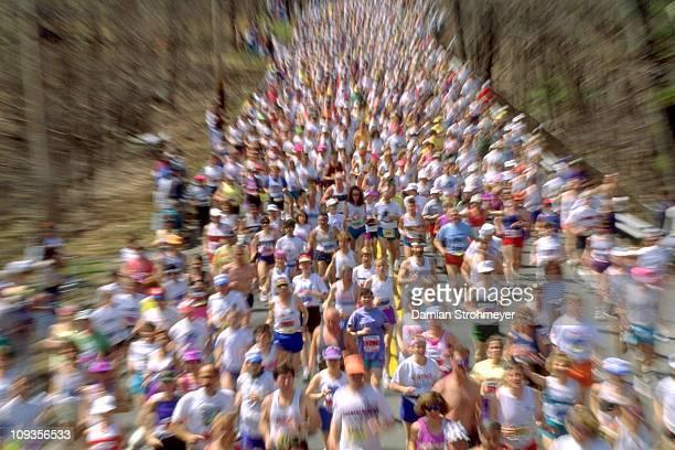 97th Boston Marathon Miscellaneous action at start of the race BlurHopkinton MA 4/19/1993CREDIT Damian Strohmeyer