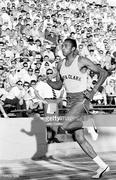 National Championships: Santa Clara Tommie Smith in action during race at Hughes Stadium on Sacramento City College campus. Sacramento, CA 6/21/1968...