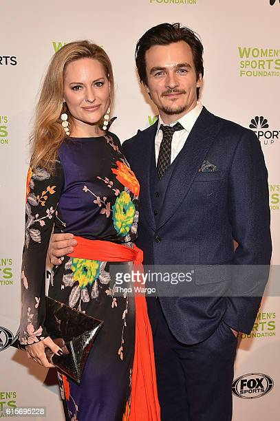 Track Field Athlete Aimee Mullins and Filmmaker Rupert Friend attends the 37th Annual Salute To Women In Sports Gala at Cipriani Wall Street on...