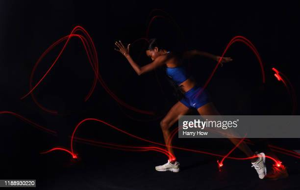 Track & field athlete Dalilah Muhammad poses for a portrait during the Team USA Tokyo 2020 Olympics shoot on November 19, 2019 in West Hollywood,...