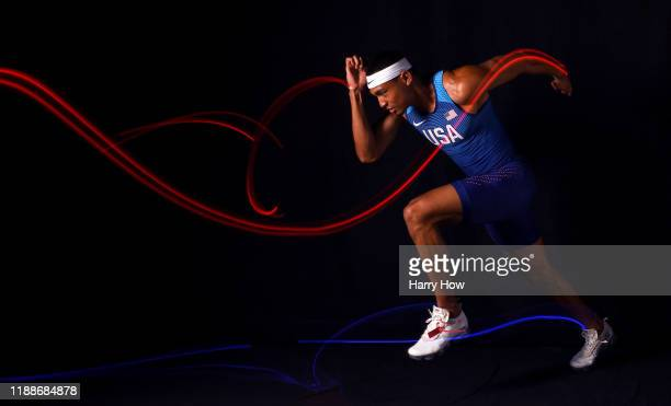 Track & Field athlete Michael Norman poses for a portrait during the Team USA Tokyo 2020 Olympics shoot on November 19, 2019 in West Hollywood,...