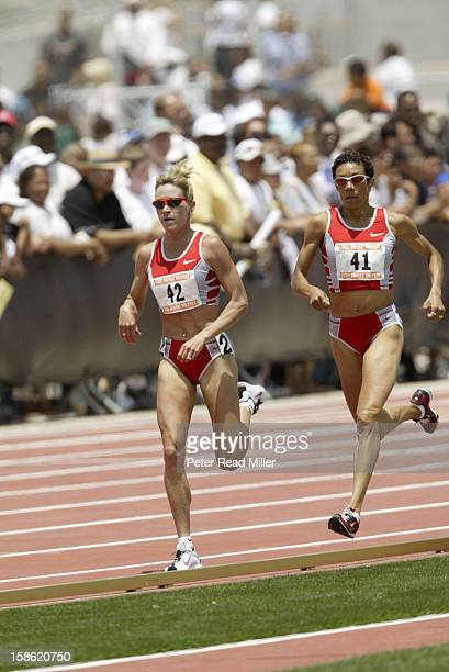 Home Depot Invitational Suzy Favor Hamilton in action leading vs Regina Jacobs during Women's 1500M race at Home Depot Center Carson CA CREDIT Peter...