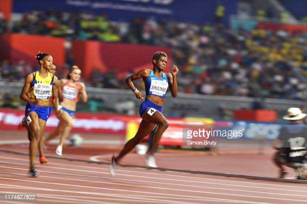 World Athletics Championships: USA Wadeline Jonathas in action during Women's 400M Semifinals at Khalifa International Stadium. Doha, Qatar 10/1/2019...