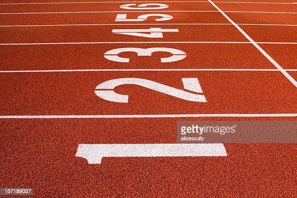 Track & Field Lane Numbers