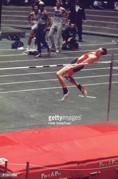 Track Field Millrose Games USA Dick Fosbury in pole vault action at Madison Square Garden New York NY 1/31/1969