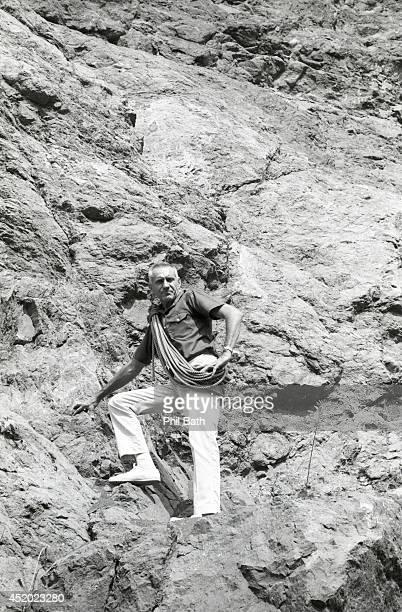Portrait of former Olympian Louis Zamperini on Mammoth Mountain Zamperini a prisoner of war survivor from World War II takes deliquent boys from...