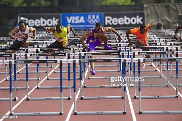 Reebok Grand Prix USA Terrence Trammell in action during Men's 110M Hurdles at Icahn Stadium on Randall's Island New York NY 5/30/2009 CREDIT Heinz...