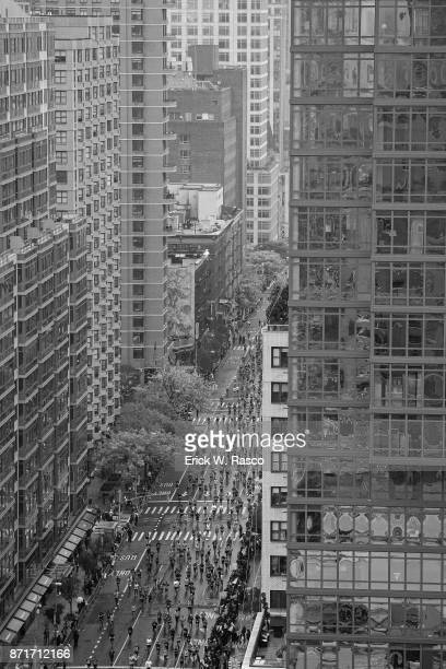 TCS New York City Marathon Aerial view of runners in action during race New York NY CREDIT Erick W Rasco