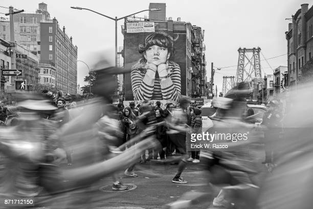 TCS New York City Marathon Blurred view of runners in action during race New York NY CREDIT Erick W Rasco