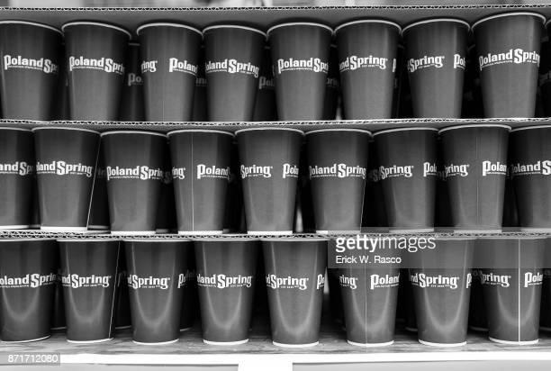 TCS New York City Marathon Closeup of cups stacked during race New York NY CREDIT Erick W Rasco