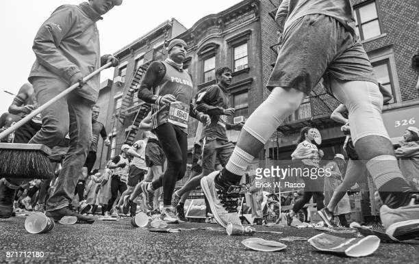 TCS New York City Marathon Closeup of runners in action during race Brooklyn NY CREDIT Erick W Rasco
