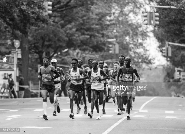 TCS New York City Marathon Overall view of runners in action during race New York NY CREDIT Erick W Rasco