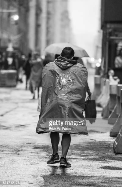 TCS New York City Marathon Rear view of runner after race New York NY CREDIT Erick W Rasco