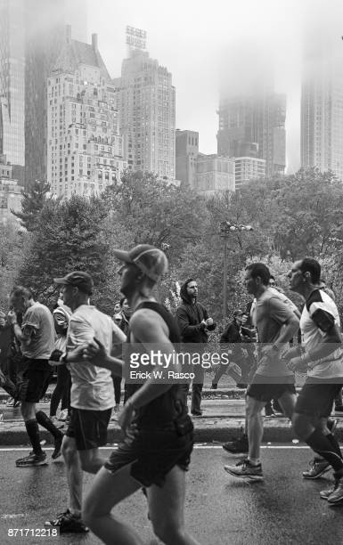 TCS New York City Marathon View of runners in action during race on Upper East Side of Manhattan New York NY CREDIT Erick W Rasco