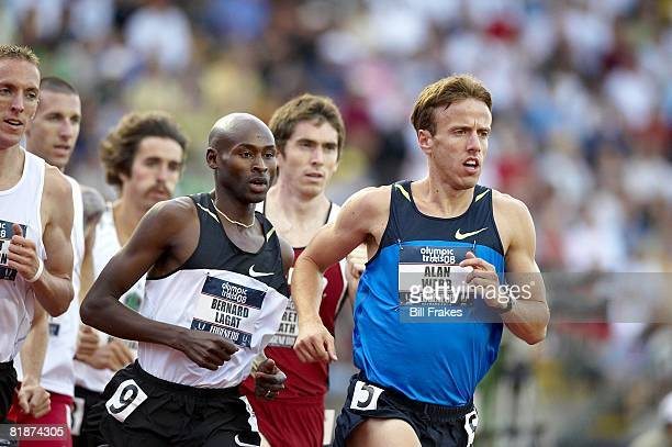 Olympic Trials: Bernard Lagat and Alan Webb in action during 1500M Semifinals at Hayward Field. Eugene, OR 7/4/2008 CREDIT: Bill Frakes