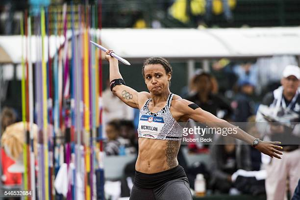 US Olympic Trials Chantae McMillan in action during the Heptathlon Javelin Throw at Hayward Field Eugene OR CREDIT Robert Beck