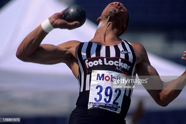 Olympic Trials: Dan O'Brien in action during Men's Decathalon shot put at Centennial Olympic Stadium. Atlanta, GA 6/21/1996 CREDIT: Walter Iooss Jr.