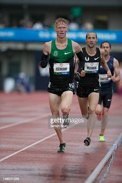 US Olympic Trials Dathan Ritzenhein and Matt Tagenkamp in action during Men's 10000M Final at Hayward Field Eugene OR CREDIT Simon Bruty