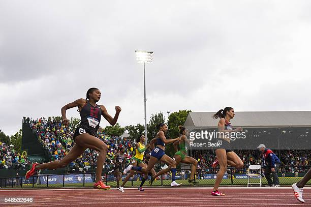 US Olympic Trials Gabrielle Thomas and sprinters in action during Women's 200M Final at Hayward Field Eugene OR CREDIT Robert Beck
