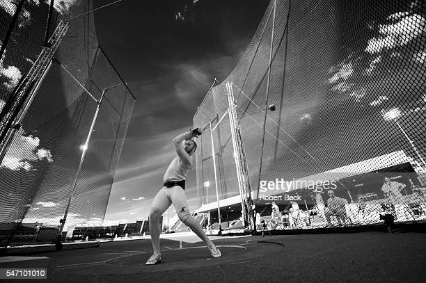 US Olympic Trials Infrared view of miscellaneous athlete during Men's Hammer Throw at Hayward Field Eugene OR CREDIT Robert Beck