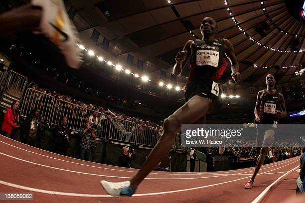 Open: Kenya Silas Kiplagat and USA Bernard Lagat in action during Men's Mile competition at Madison Square Garden. New York, NY 1/28/2012 CREDIT:...