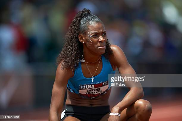 USA Outdoor Championships Deedee Trotter during Women's 400M Final at Hayward Field Eugene OR CREDIT Bill Frakes