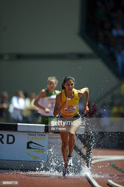 USA Outdoor Championships Delilah DiCrescenzo in action during Women's 3000M Steeplechase Final at Hayward Field Eugene OR 6/28/2009 CREDIT Bill...