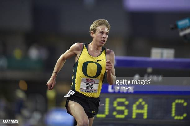 USA Outdoor Championships Galen Rupp in action during Men's 10000M Final at Hayward Field Eugene OR 6/25/2009 CREDIT Bill Frakes