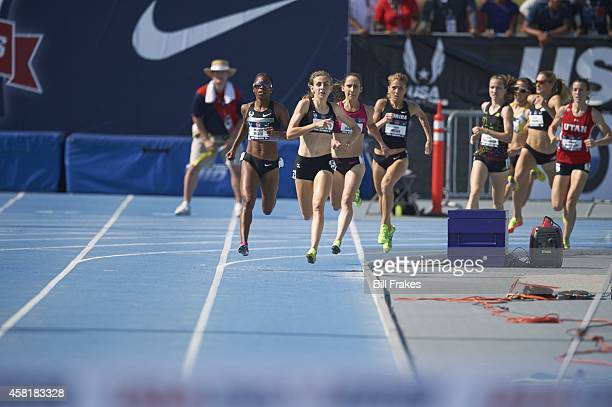 USA Outdoor Championships Mary Cain and Treniere Moser in action during Women's 1500M Final at Drake Stadium Des Moines IA CREDIT Bill Frakes