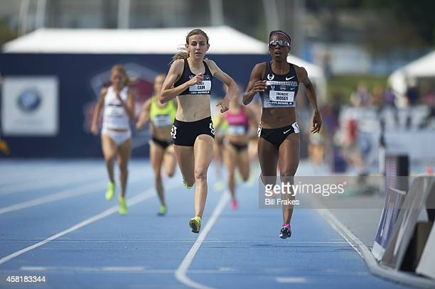USA Outdoor Championships Mary Cain and Treniere Moser in action during Women's 1500M Heat at Drake Stadium Des Moines IA CREDIT Bill Frakes