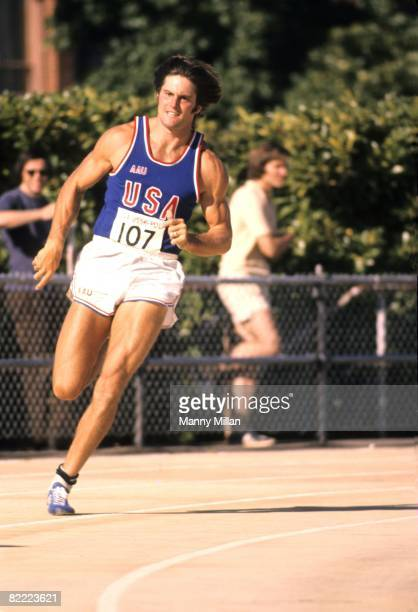USA USSR Poland Decathlon Meet USA Bruce Jenner in action during competition at Hayward Field Eugene OR 8/10/1975 CREDIT Manny Millan