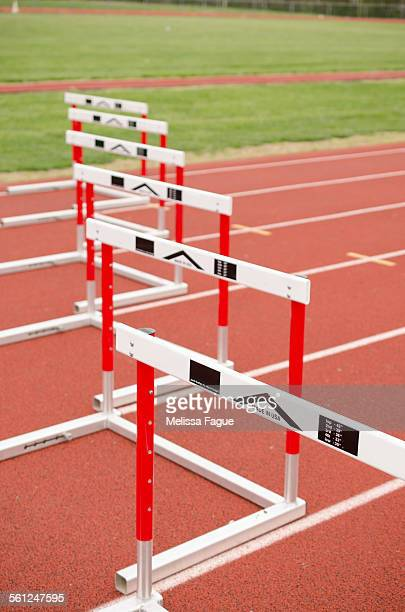 track hurdle 3 - melissa fague stock pictures, royalty-free photos & images