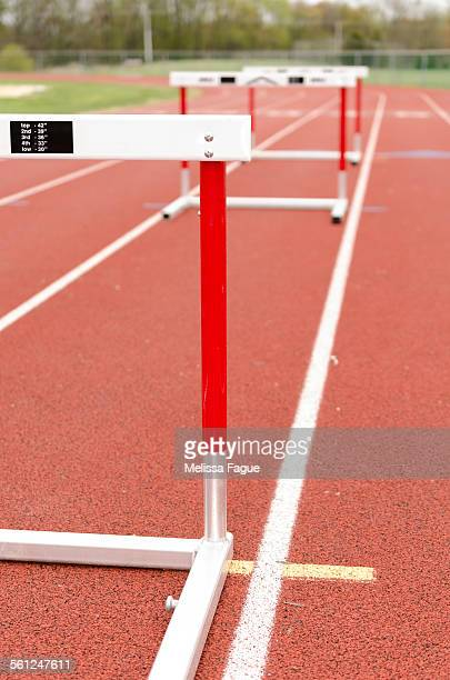 track hurdle - melissa fague stock pictures, royalty-free photos & images