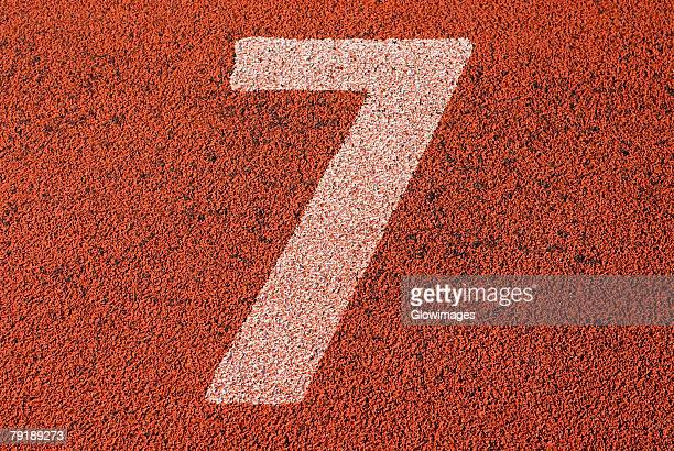 Track number 7 of a running track