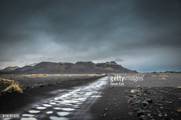 Track to Landmannalaugar nature reserve in southern-central Iceland.