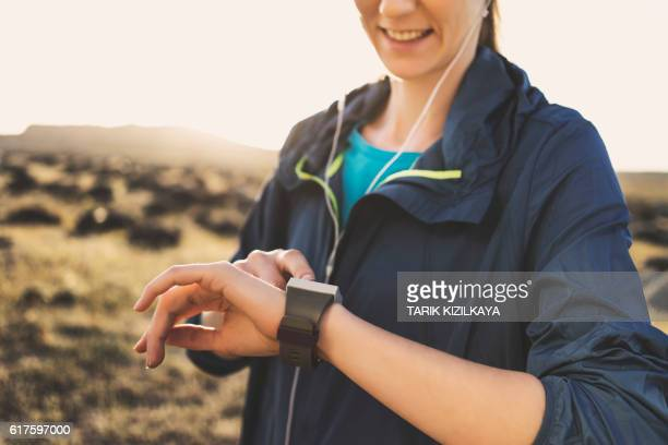 track your workout - windbreak stock pictures, royalty-free photos & images