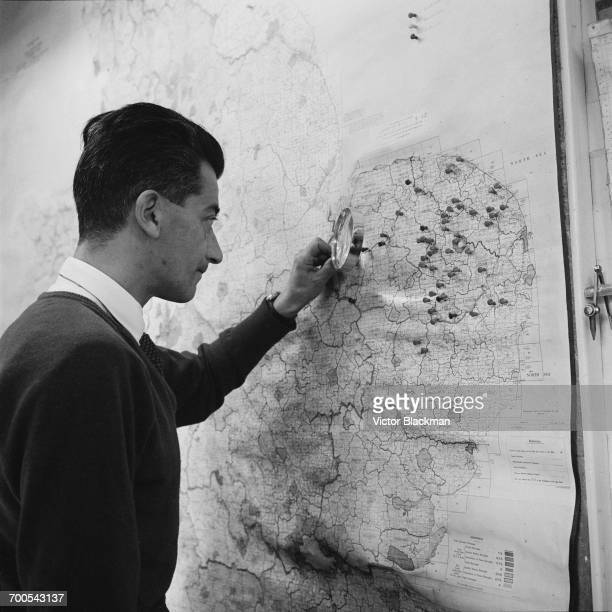 Tracking an outbreak of foot and mouth disease at the Government building at Tolworth, London, UK, 15th November 1960.