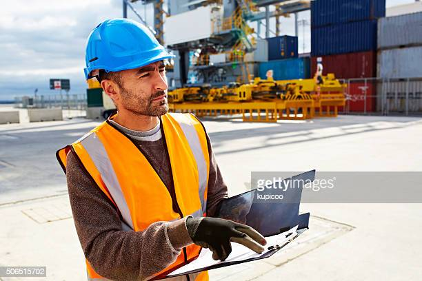 Tracking and tracing on the shipping yard