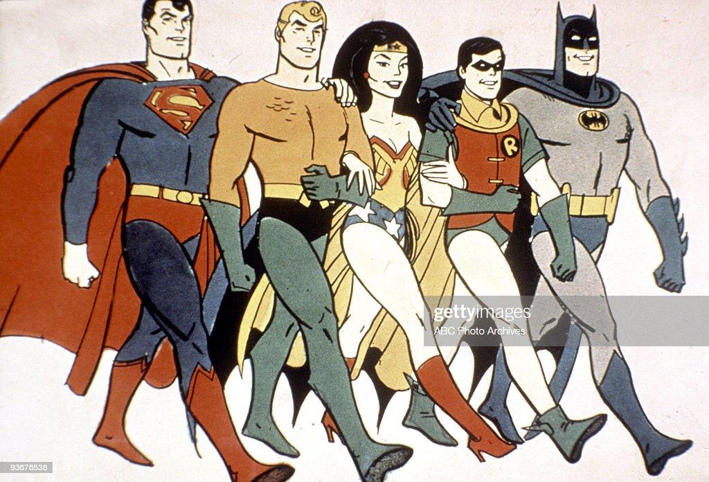 SUPERFRIENDS - 5/4/73, Tracking #7077A, 35797, Superman, Wonder Woman, Robin and Batman,