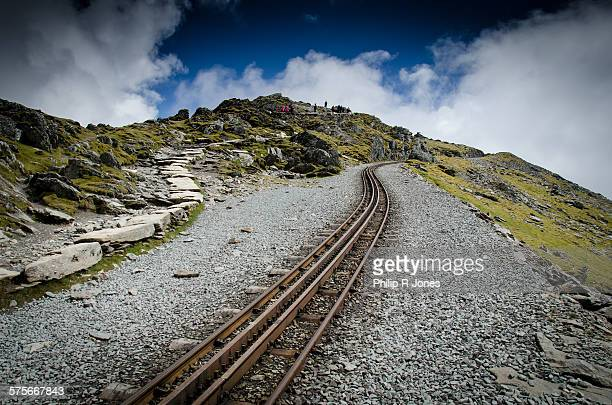tracks and paths - mount snowdon stock photos and pictures