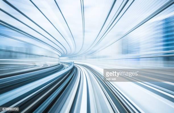 Tracks of a train