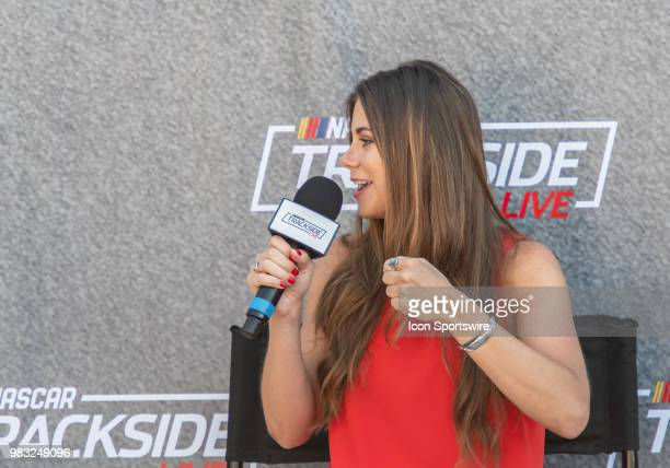 Trackside Live interview talks with Hailie Deegan during the Toyota/Save Mart 350 Monster Energy NASCAR Cup Series race on June 24 at Sonoma Raceway...